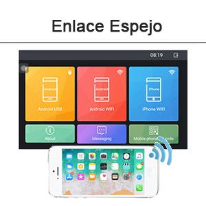Android 1 DIN Radio de Coche GPS CAMECHO 7