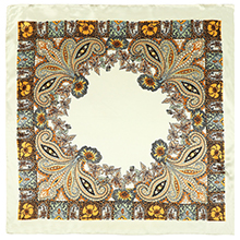 Beige Floral pattern head scarf