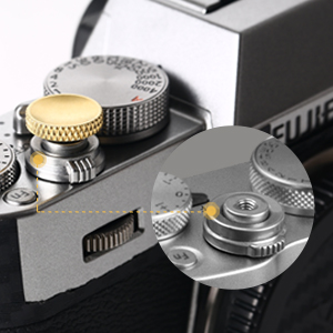 Fits for Cameras with Screw Hole on The Shutter Release Button Aluminium Alloy Shutter Button with Concave Surface Red Black Silver Tosuny 3PCS Camera Button