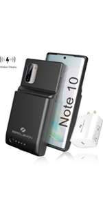 Galaxy Note 10 8600mAh Battery Case Wireless Charging