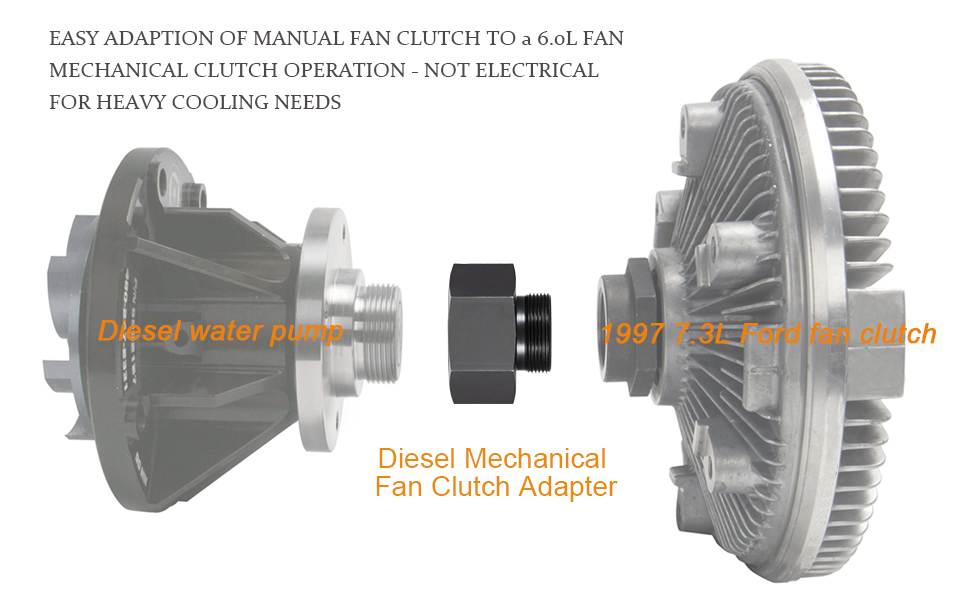 6.0L 7.3L Powerstroke Compatible Diesel Mechanical Fan Clutch Adaptor