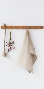 MagicLinen Linen Tea Towel - Linen Kitchen and Dish Towel - Linen Cloth - Hand Towel - One Piece