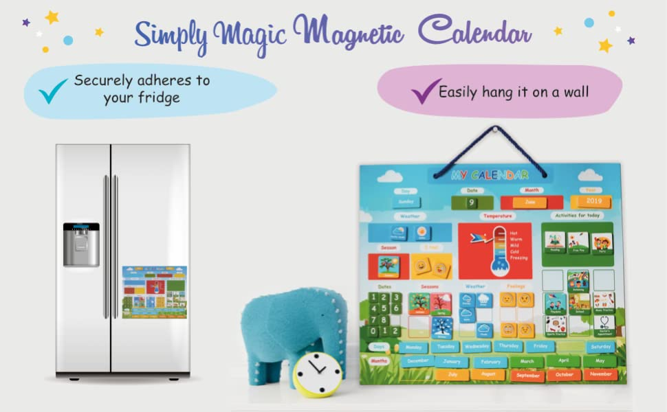 kids calendar, classroom calendar, calendar for kids, wall kids calendar, fridge kids calendar