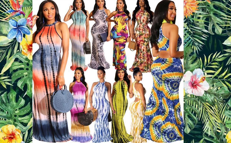 Sleeveless Bodycon Maxi Dresses for Women