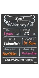 Bone Milestone Board Vet Veterinary Visit Dogs