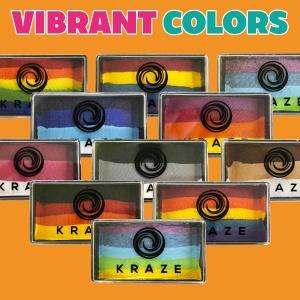 Kraze FX face painting split cake rainbow cake cosmetic grade FDA compliant vegan smudge free