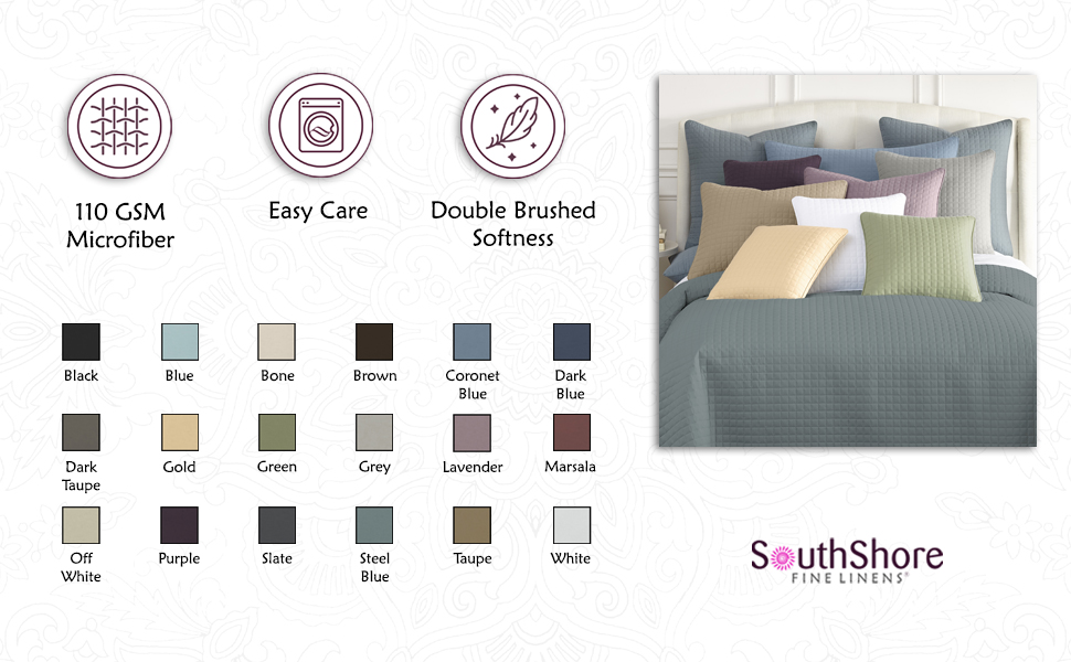 Quilted Shams Infographic