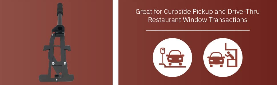 Great for Curbside Pickup and Drive-Thru Restaurant Window Transactions
