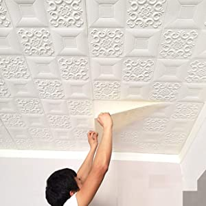 ceiling wallpaper for living room