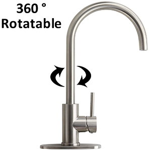 rotatable kitchen faucet hot and cold