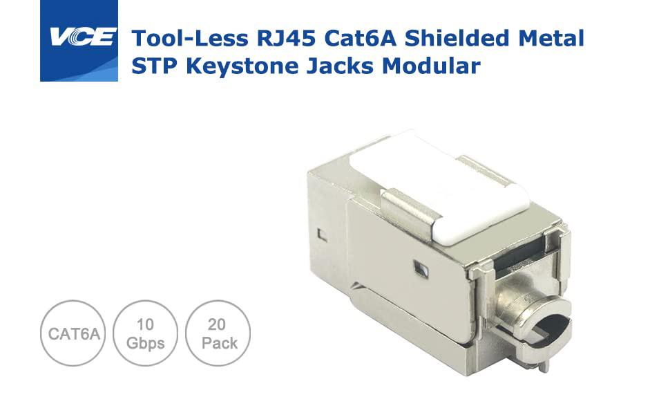 RJ45 Cat6A Shielded Keystone Jack