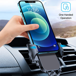 one hand operation car phone holder