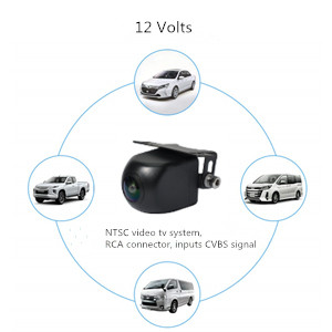 Vission AM-CAMW3 Black Tri-Angle 180/° Surface Mount Rearview and Left//Right Sideview Camera