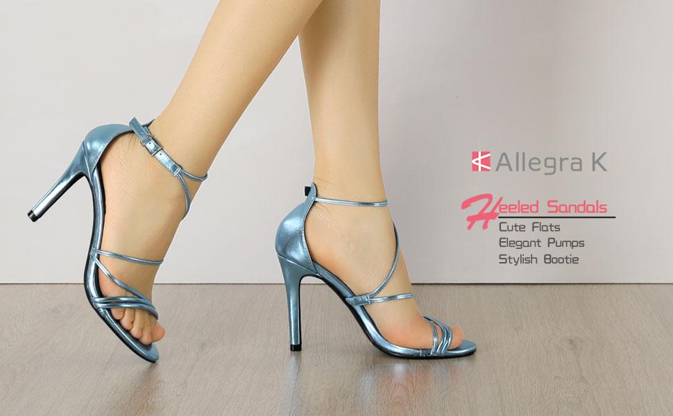 Allegra K Women's Party Strappy Stiletto High Heels Sandals