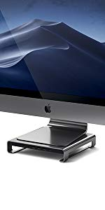 iMacスタンド iMac台 カードリーダー USBハブ iMacハブ サテチ Satechi Mac周辺機器 モニタースタンド iMac スタンド Apple SDカード imac用スタンド