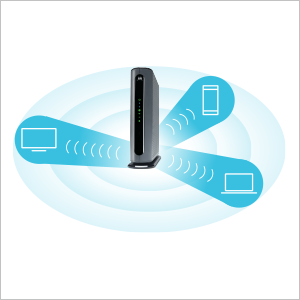 MG7700 focuses wireless signal on wireless devices.