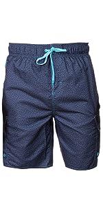 Non-Stretch (Point Break)- LAGUNA Mens Pocket Boardshorts Swim Trunks, UPF 50+