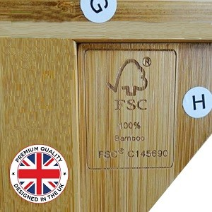 Our bamboo racks were created by our UK Designers  and are FSC sourced to maintain premium quality