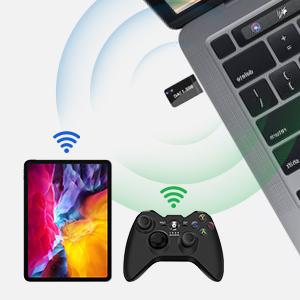 Maxesla Antena Wifi USB, Mini 1200Mbps Adaptador Wifi USB Banda Dual 2.4G/5GHz, Receptor Wifi USB para PC Desktop Laptop Tablet, USB Wifi Soporta ...