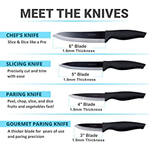 "kitchen ceramic knives set 6"" ceramic chef knife 5"" ceramic knife 4"" ceramic knife 3"" ceramic knife"