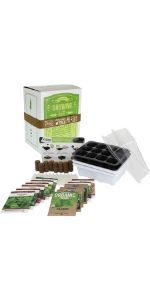 deluxe indoor herb garden seed starter kit by mountain valley seed company