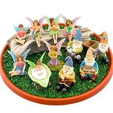 miniature fairy garden fairy boy girl fairies table chairs toy boys girls decor