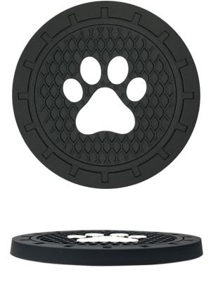 dog paw car cup holder coaster