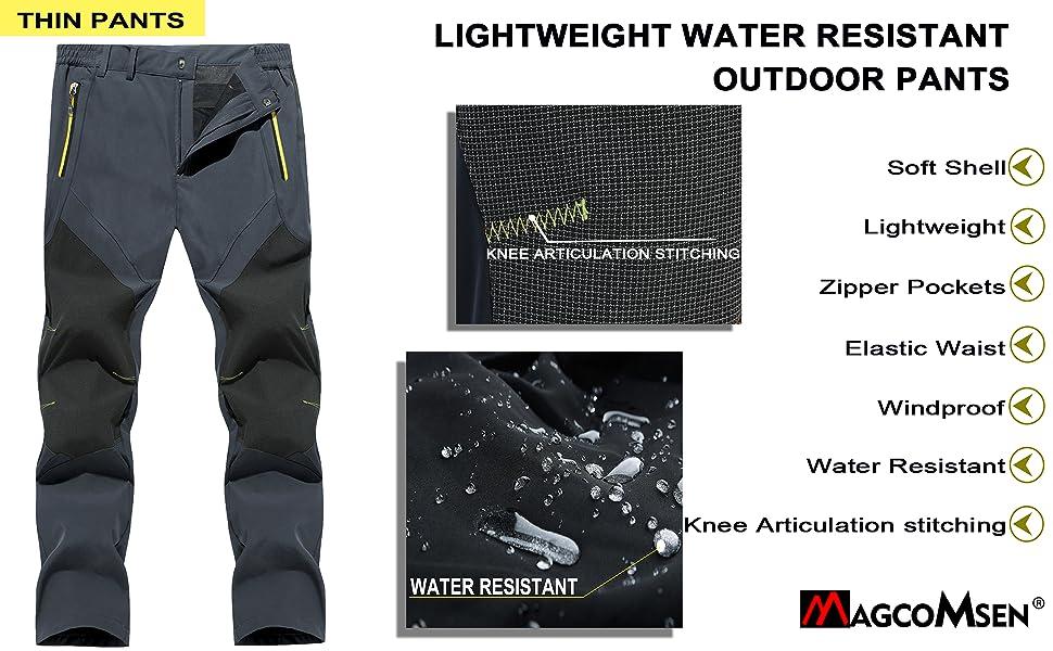 lightweight hiking pants mens waterproof pants for men