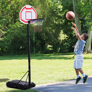 Portable Basketball Stand System Junior Adjustable W/Wheels