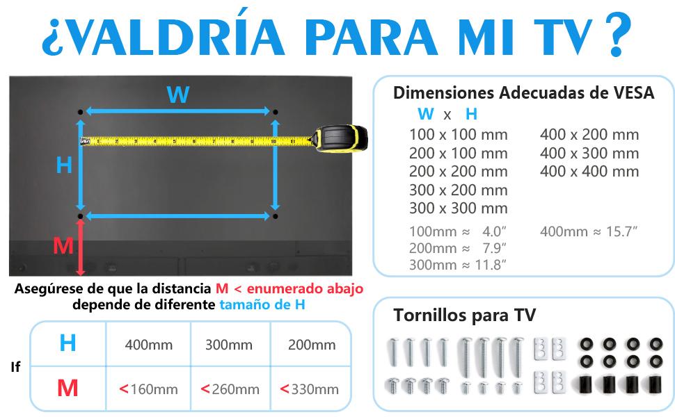 RFIVER Soporte Pie TV Universal de Mesa Peanas para Television de ...