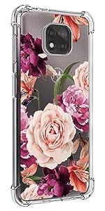 Osophter for MOTO G Power 2021 Case Flower Floral for Girls Women Phone Cover