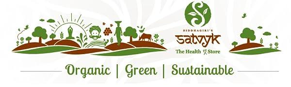 Satvyk, Organic, Green, Sustainable.