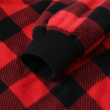 Men's Thicken Sherpa Lined Checkered Flannel Hoodie Shirt Jacket