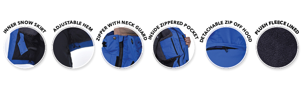 Swiss Alps Mens Insulated Waterproof Performance Winter Ski Jacket Coat