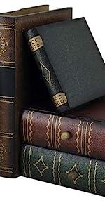 Fake Books Set, Decorative Books with Secret Compartment in Map Design