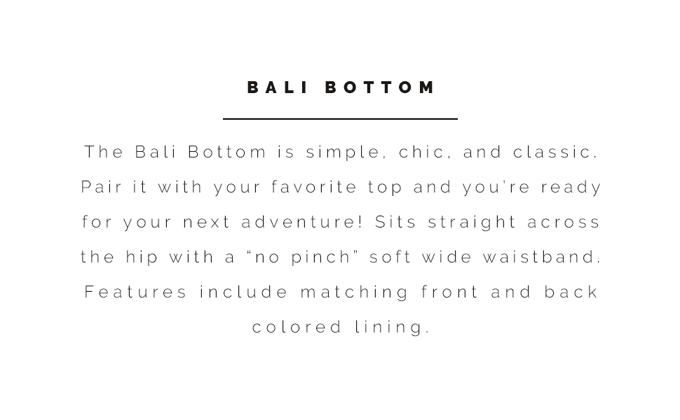 Sunsets Bali Bottom information and style description.