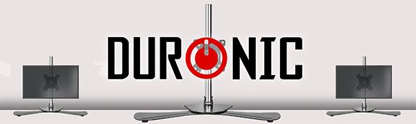 Duronic Dm751 Monitorhalterung Tischhalterung Standfuß Monitorständer Für Einen Lcd Led Computer Bildschirm Fernsehgerät Mit Neig Schwenk Und Rotierfunktion Küche Haushalt