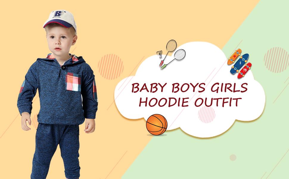 Toddler Boys Girls Sweatshirt Set