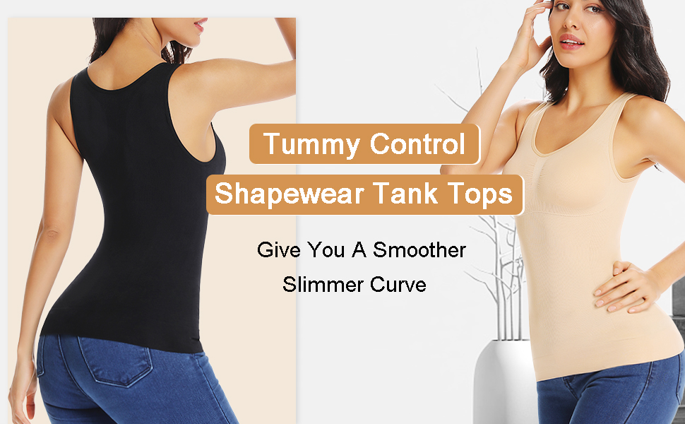 Camille Womens Shapewear Underwear Black Tummy Control Body Support Vest Top