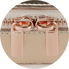 rose gold jewellery box case zip pouch travel jewelry rings necklace organiser girls womens gift