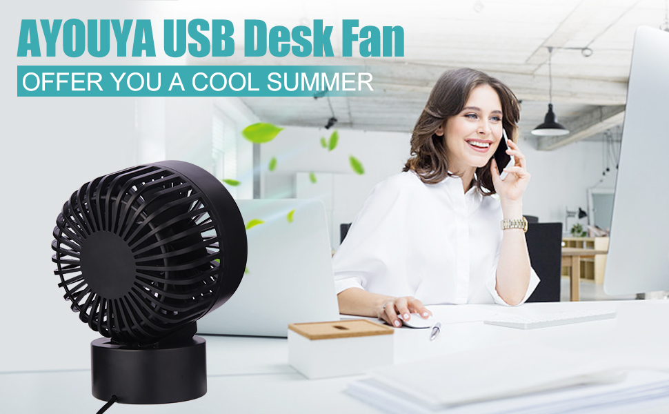 desk fan usb fan cooling fan noiseless quite, cooling fan usb desk fan portable black small non slip