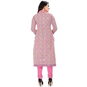 Rajnandini Women's Pure Cambric Cotton Kalamkari Printed Unstitched Salwar Suit Material