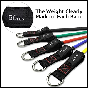 resistance bands with handle