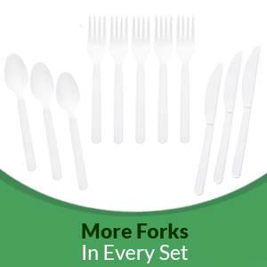 Treeatery Compostable Cutlery Box natural cutlery compostable forks compostable spoons knives