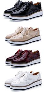 Women's Platform Lace-Up Oxfords Shoe