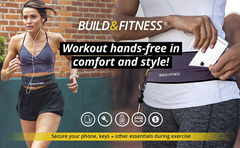 Workout hands-free running belt