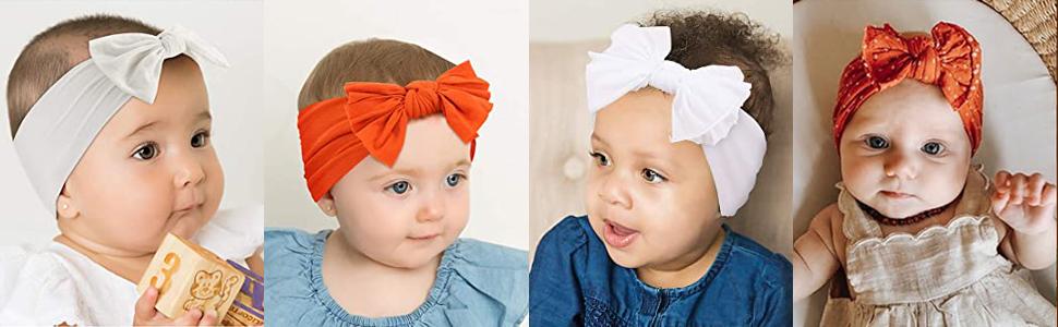 bébé Bandeaux, Super Soft Stretchy Knot bébé Turban, Multicolore Hairband pour bébé