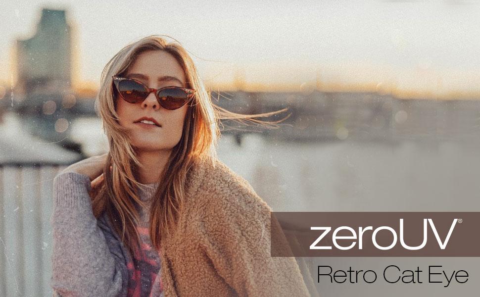 zeroUV Women's Cat Eye Sunglasses For Women cateye Sunglass for Girls