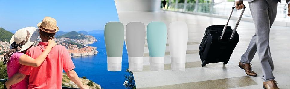 travel bottles for toiletries silicone