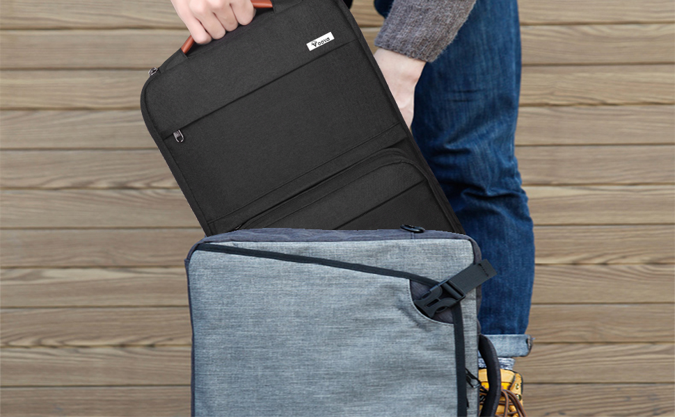14 15.6 inch laptop sleeve bag case with pouch